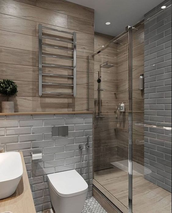 Small Shower Stall With Curtain
